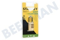 S742-051 Stanley Hangslot Combination Brass 3 cijferig 30mm