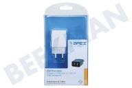 Universeel 200912056  Dual USB Thuislader 2.1A, Wit Universeel USB