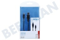 JVC 10181 Mini  USB Kabel 100cm Zwart Mini USB