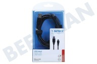 Point Of View 10920 Micro  USB Kabel 300cm Zwart Micro USB