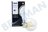 Calex 429012  Smart LED Filament Clear Standaardlamp E27 Dimbaar 220-240V, 7W, 806lm, 1800-3000K
