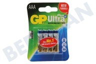 GP 03024AUPU4 LR03 AAA batterij GP Alkaline Ultra Plus 1,5V 4 stuks Potlood Ultra Plus Alkaline