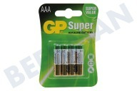 GP 03024AC4  LR03 Super Alkaline AAA Potlood Super Alkaline