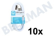 Grab 'n Go GNG137  USB Kabel USB Type C male naar USB Type A male, Wit 1m