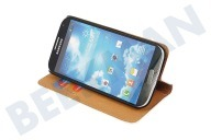 Adapt 22864  Book Case met Creditcard sleuven, Wit, Leder Samsung Galaxy S4