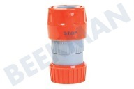 Talen Tools  RS4451BL Slangkoppeling met waterstop 1/2 inch 12-18mm, 1/2""