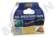 Universeel AT4805 All Weather  Tape Transparant 48mm x 5m Reparatie-/Afdichtingstape, 48mm x 5 meter