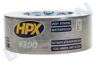 HPX CS5025  6200 Pantsertape Repair Zilver 48mm x 25m Duct Tape, 48mm x 25 meter
