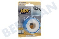 HPX  WT0012 PTFE Afdichtingstape Water Wit 12mm x 12m Isolatietape, 12mm x 12 meter