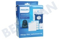 Philips Stofzuiger FC8074/02 Philips Performer Compact Allergy filter replacement kit Performer Compact