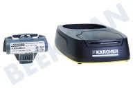 Karcher 26331160  2.633-116.0 Window Vac 5 Laadstation en Vervangaccu WV5 Plus, Plus Non Stop, Premium