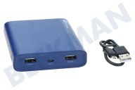 Universeel 130B10ABLUE B10A GP B-Series  Powerbank 10000mAh Deep Blue 10000mAh, Micro USB