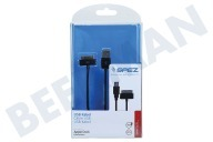 Apple 10154  USB Kabel Apple Dock connector, 100cm, Zwart Apple iPhone, iPad, iPod