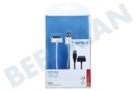 Apple 10552  USB Kabel USB naar Apple Dock, Wit, 100cm Apple 30-pin Dock connec.
