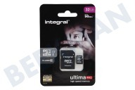 Integral INMSDH32G10-90U1  Memory card Class 10 (incl.SD adapter) Micro SDHC card 32GB 90MB
