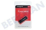 Integral INFD64GBBLK.  Memory stick 64GB USB Flash Drive Zwart USB 2.0