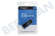 Integral INFD16GBBLK3.0  Memory stick 16GB USB Flash Drive Zwart USB 3.0