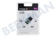 Integral INFD32GBFUSGR  32GB Fusion USB Flash Drive USB 2.0 Kleinste USB