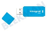 Integral INFD16GBNEONB  Memory stick 16GB Neon Blue USB Flash Drive USB 2.0