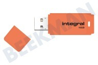 Integral INFD16GBNEONOR  Memory stick 16GB Neon Orange USB Flash Drive USB 2.0