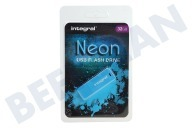 Integral INFD32GBNEONB  Memory stick 32GB Neon Blue USB Flash Drive USB 2.0