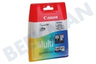Canon 1713986  Inktcartridge PG 540 Black CL 541 Color Multipack Pixma MG2150, MG3150, MX375