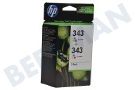 HP Hewlett-Packard CB332EE  Inktcartridge No.343 Color Twinpack