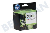 HP Hewlett-Packard HP-CH564EE HP 301 Xl Color  Inktcartridge No. 301 XL Color geschikt voor o.a. Deskjet 1050,2050