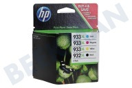 HP Hewlett-Packard 2043854 HP 933 + 932 XL Combi Pack  Inktcartridge No. 932XL/933XL Multipack BK/C/M/Y Officejet 6100, 6600