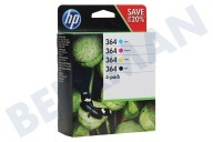 HP Hewlett-Packard HP-N9J73AE N9J73AE  Inktcartridge No. 364 Combo 4-pack BK/C/M/Y Photosmart C5380, C6380