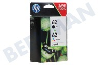 HP Hewlett-Packard 2509176  HP 62 Combo Pack N9J71AE Officejet 5740, Envy 5640