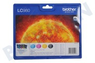 Brother 2075377  Inktcartridge LC 980 Multipack DCP145C,165C,375CE,195C