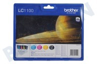 Brother LC1100VALBP  Inktcartridge LC 1100 Multipack MFC490CW,MFCJ615W,MFC790C
