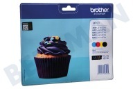 Brother BROI123V  Inktcartridge LC 123 Multipack DCPJ132W, DCPJ152W, MFCJ245