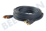 BMS 007845  Verlengkabel EXTN.CABLE 2RCA-2RCA(M-F) Silverline