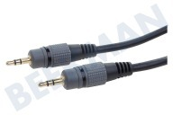 Empire BMG201  Jack Kabel 2x 3.5mm Stereo Male, 1.2 meter, 1.2 Meter, Zwart,