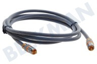 Digital Audio Coax 1,8 Digitale Coax Kabel Tulp RCA Male - Male, 1.8 Meter