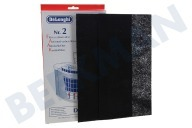 DeLonghi 5537000300  Filter Koolstoffilter 315x180mm DAP130