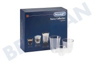 Silvercrest 5513296671 DLSC302  Kopjes Fancy collection Set van 6 glazen, 2x Espresso, 2x Cappuccino, 2x Melk