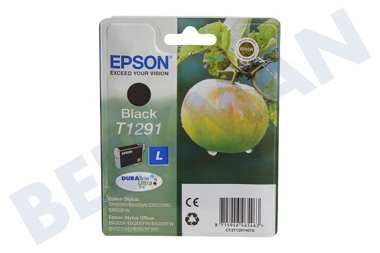 epson c13t12914010 inktcartridge t1291 black epson printer. Black Bedroom Furniture Sets. Home Design Ideas