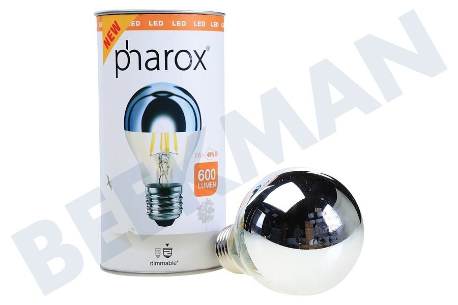 Pharox  Ledlamp LED Standaardlamp A60 Kopspiegel Dimbaar