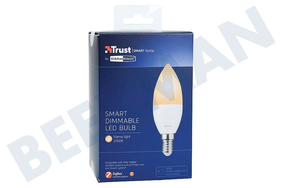 Trust  ZLED-EC2206 Dimbare E14 LED Lamp Flame Wit