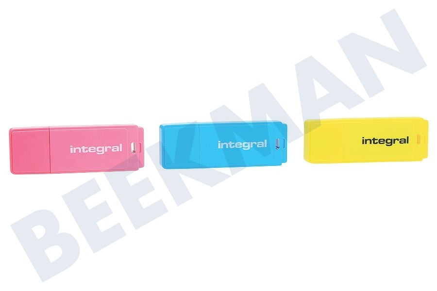 Integral  Memory stick Triple pack 3 x 16Gb Neon Yellow, Pink & Blue