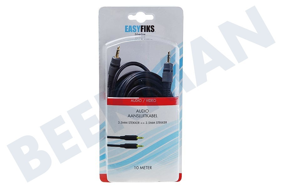 Creative  Jack Kabel 2x 3.5mm Stereo Male, 10.0 meter, Verguld